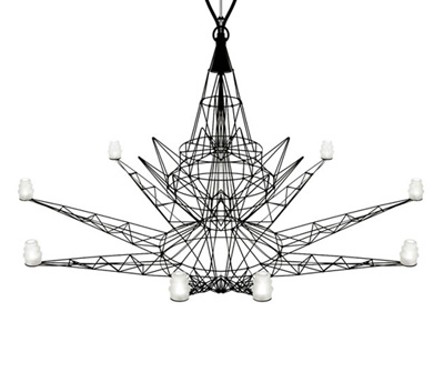Foscarini LIGHTWEIGHT 46 dia Chandelier by Tom Dixon – Modern Metal Chandelier
