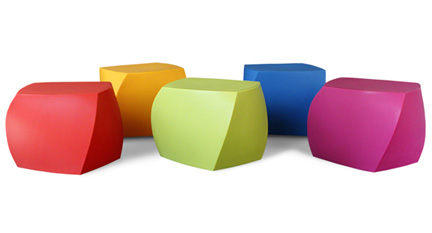 Frank Gehry Original Heller Twist Cubes, Multi Colored