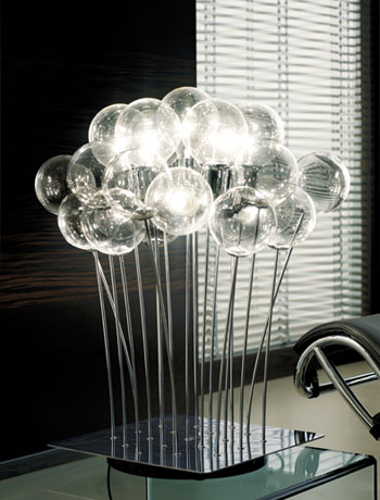 111280g sphere is one of the most attractive modern table lamps ever made this impressive lamp is the centerpiece of any room twelve handblown italian glass aloadofball Image collections