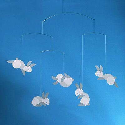 Flensted Mobile Bunny Circular Rabbits: NOVA68.COM MODERN DESIGN