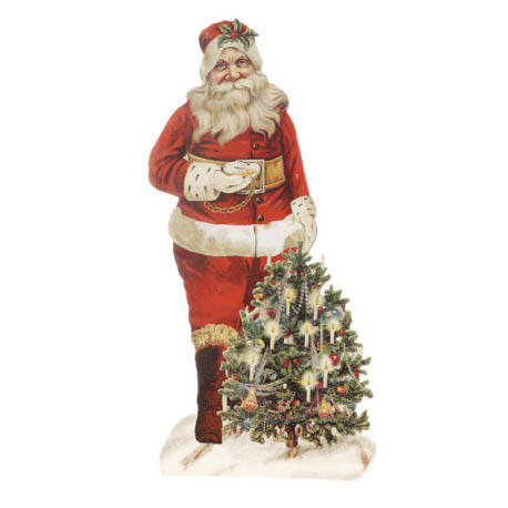 Christmas Santa Holding Tree Decoration NOVA68com