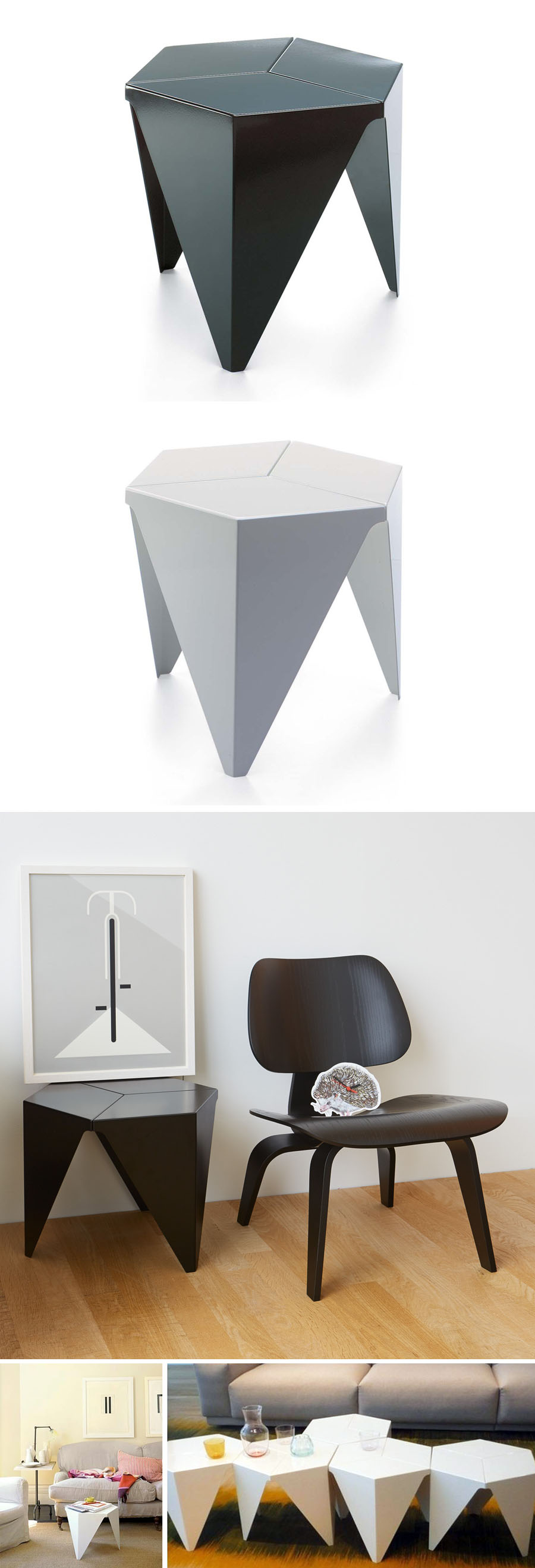 Vitra Design Aluminum Prismatic 15 inch Side Table from Isamu