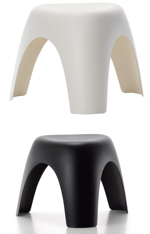 vitra 21002101 vitra elephant 14 5 stool by sori yanagi. Black Bedroom Furniture Sets. Home Design Ideas
