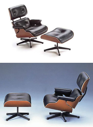 Eames Lounge And Ottoman 1956 Vitra Miniature Chair