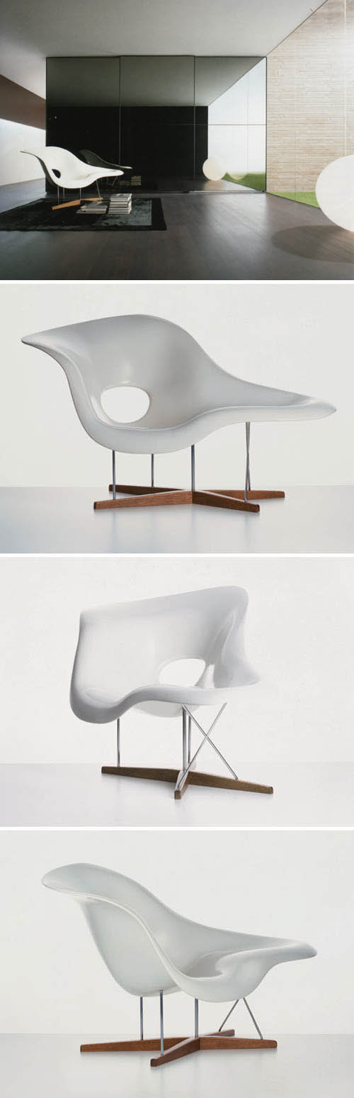 Vitra 41210001 vitra la chaise 59 sculptural lounge - Eames chaise lounge chair ...