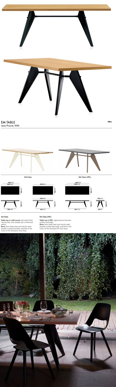 Jean Prouve Em Table Wood Vitra Dining Tables Nova68 Com