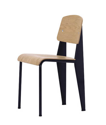 vitra standard chair black jean prouv chairs. Black Bedroom Furniture Sets. Home Design Ideas