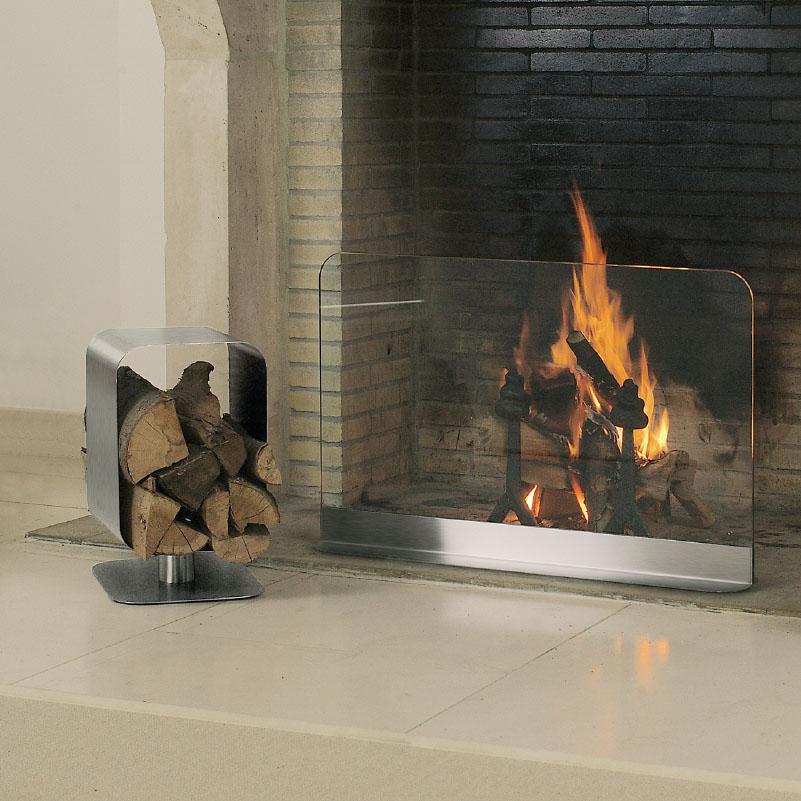 Andre Gilli: Fireplace Log Holder Cube Blomus
