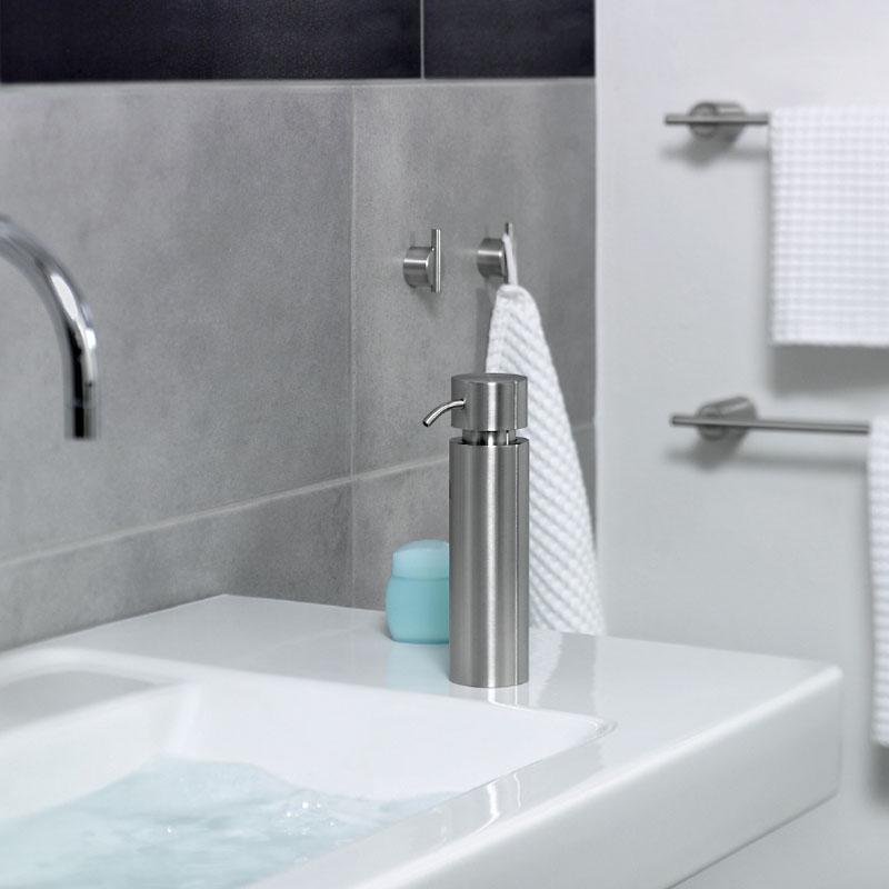bathroom accessories blomus duo soap dispenser brushed