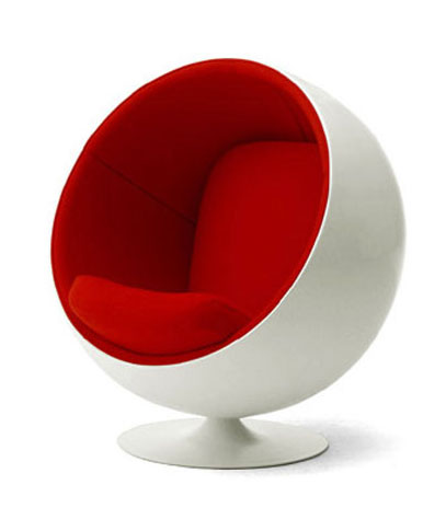 The Eero Aarnio Ball Chair Is Another Great Example Of Space Age Design.  All Of These Modern Chairs Were Modeled After The Astronautu0027s Helmets Used  During ...