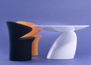 eero aarnio space age modern design white sculptural table