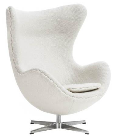 arne jacobsen egg chair modern design by. Black Bedroom Furniture Sets. Home Design Ideas