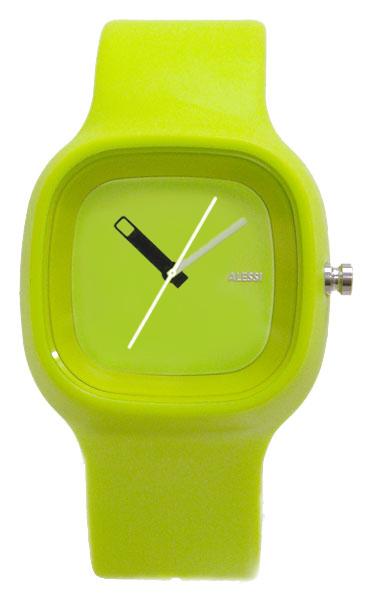 Alessi Unisex Al10011 Kaj Polyurethane Green Strap Watch