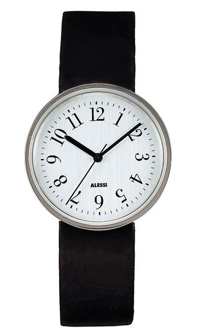 Alessi AL6003-X Stylish Silver Vinly Record Watch 36.1mm ...