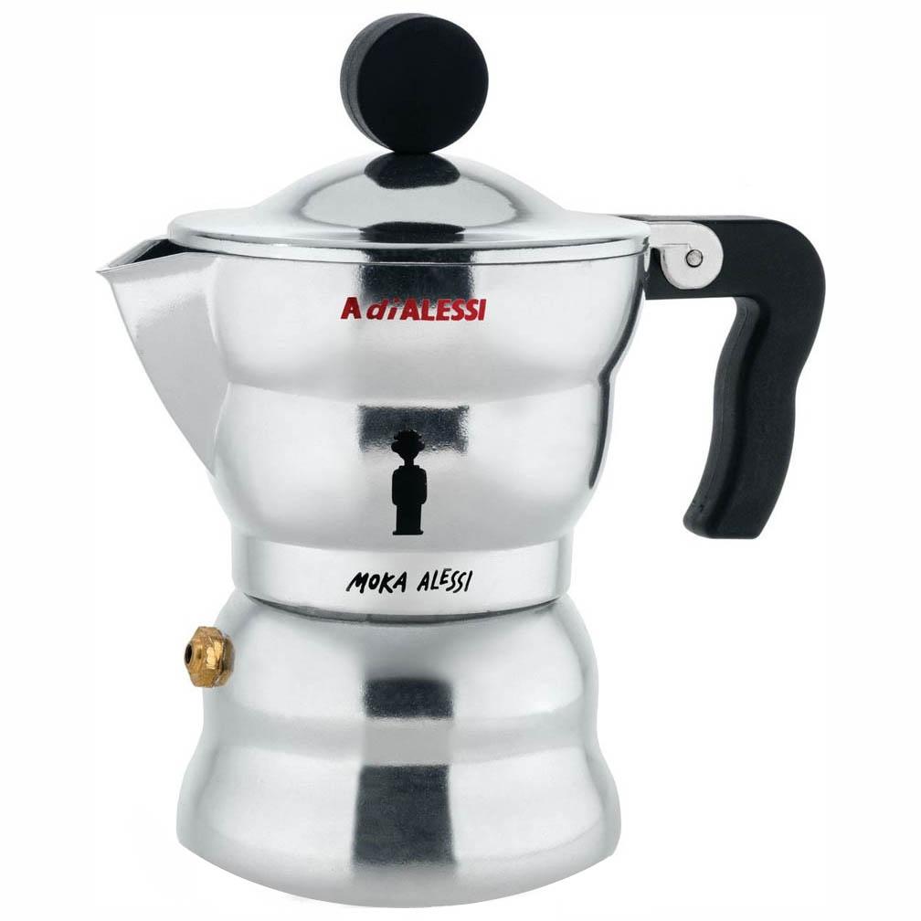 Alessi Italian Coffee Maker : 1-Cup MOKA 2.5 Oz Italian Alessi StoveTop Espresso Maker NOVA68 Modern Design