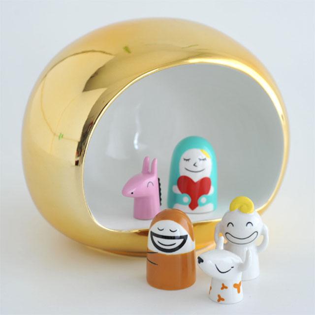 alessi presepe nativity scene manger with figurines amgi