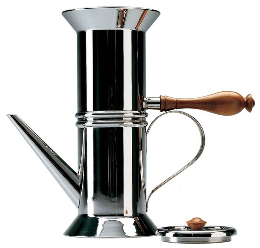 How To Use Napoletana Coffee Maker : 90018 - Italian Neapolitan coffee maker - Alessi NOVA68 Modern Design