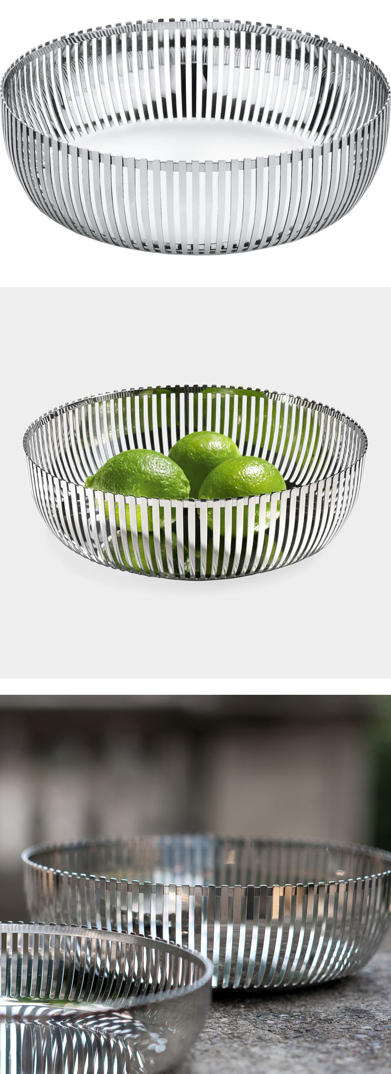 Alessi fruit basket by pierre charpin 9 inch dia pch02 23 nova68 modern design - Alessi fruit basket ...