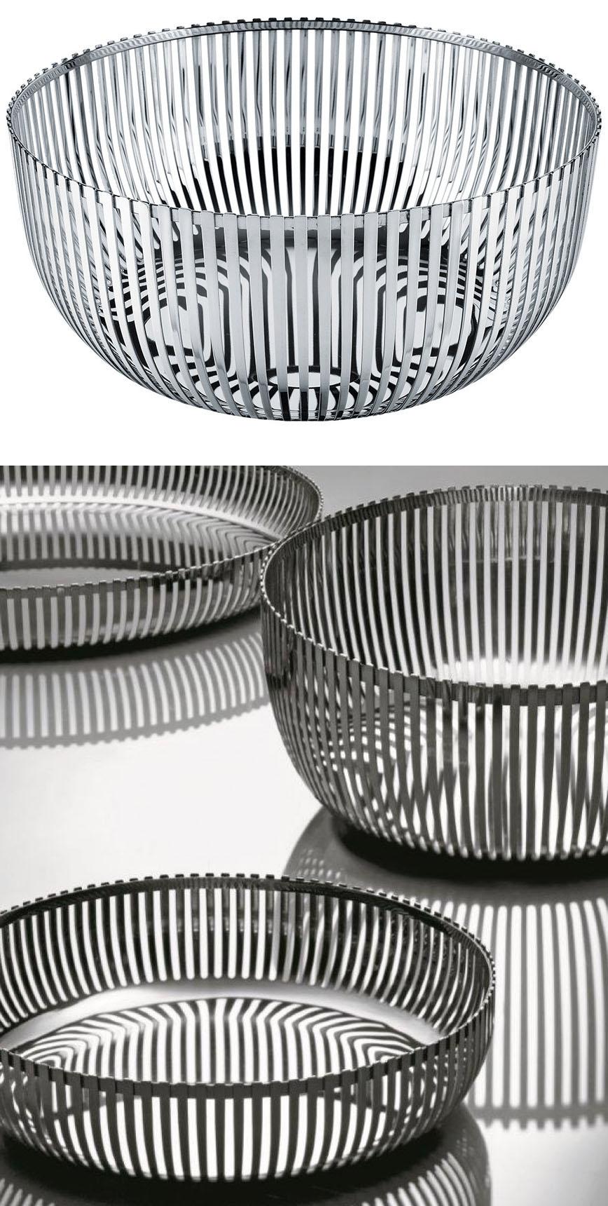 Alessi charpin fruit bowl basket 9 5 inch dia pch05 24 nova68 modern design - Alessi fruit bowl ...