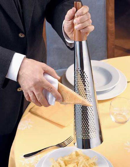 Alessi TODO Giant Hard Cheese Grater In 1810 Stainless