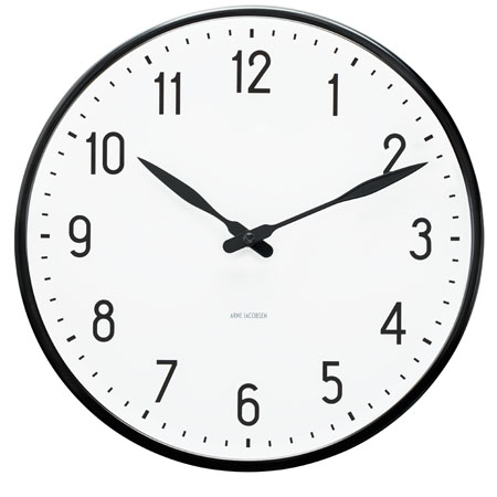 Jacobsen 43623 Arne Jacobsen 12 Quot Station Wall Clock With