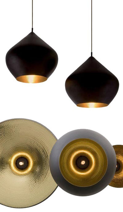 Beat Pendant Light Stout Large Black/Copper from Tom Dixon ...