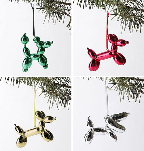 Balloon Dog Animal  Balloon Dog Theme Christmas Tree Ornament
