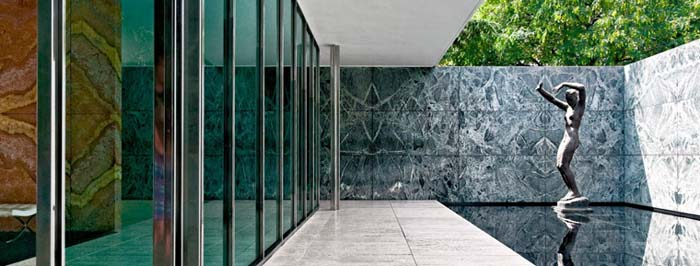 Ludwig Mies van Der Rohe's Barcelona Pavilion