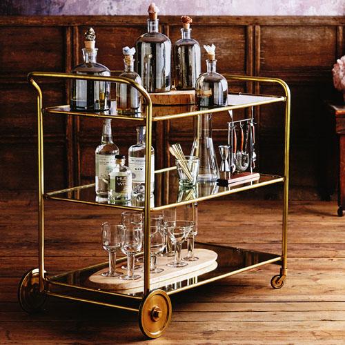 Art Deco Roaring 1920s Rolling Serving And Bar Cart