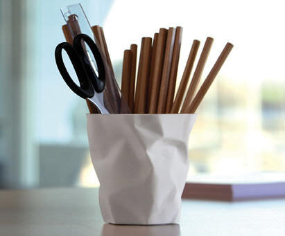 Captivating John Brauer: Pen Pen Crinkled Cup Pencil Holder Office Organizer