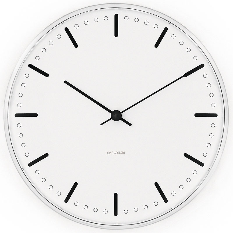 City Hall Round Wall Clock by Arne Jacobsen for Rosendahl ...