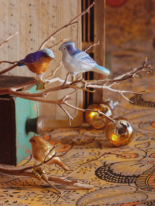 Superb Bird Ornaments For Christmas Trees Part - 3: Unique Christmas Tree Ornaments: 27-Pc Clip On Bird Vintage Ornaments