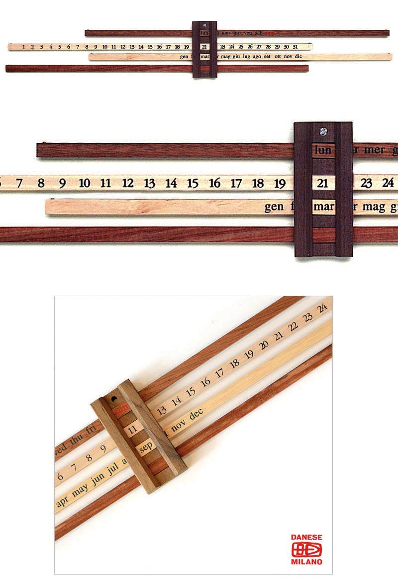 Enzo mari calendario bilancia perpetual wood wall calendar nova68 modern design - Wooden perpetual wall calendar ...