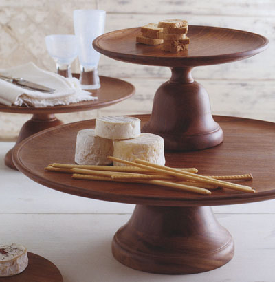 Deluxe Wood Serving Tray With Pedestal Stand Nova68 Com