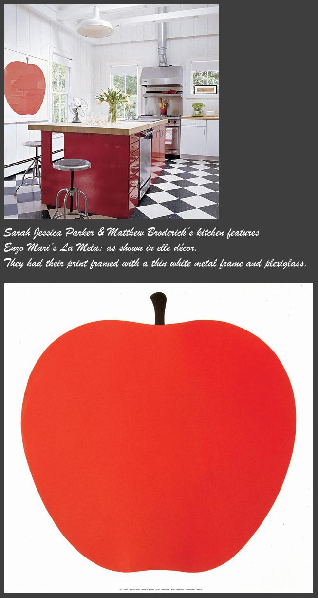 Enzo Mari La Mela Modern Poster Nova68 Com