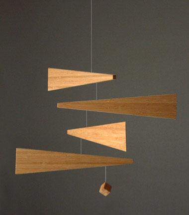Modern art ceiling mobile modern design by for Mobili wooden art