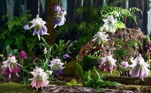 Fairy Christmas Ornaments.9 Set Flower Fairy W Costume 6 Inch Christmas Tree Ornaments