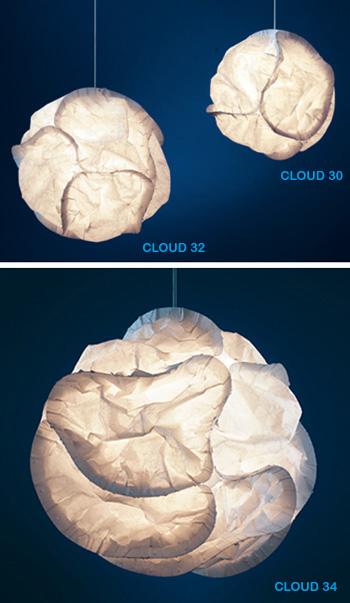 Frank Gehry: Deconstructive Cloud Lamp: NOVA68.COM MODERN DESIGN