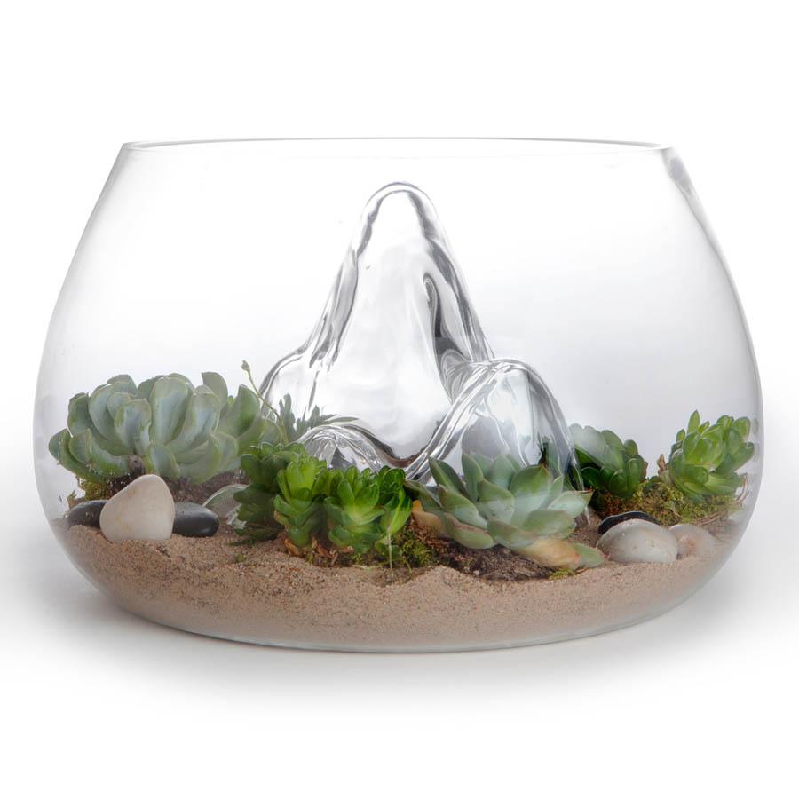 award winning 12 7 glass terrarium indoor garden nova68 modern design