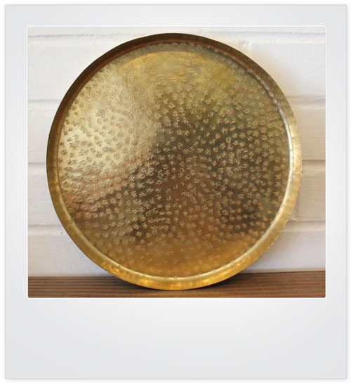 Hammered Coffee Table Tray: JAIPUR Large Hammered Brass Centerpiece Table Serving Tray