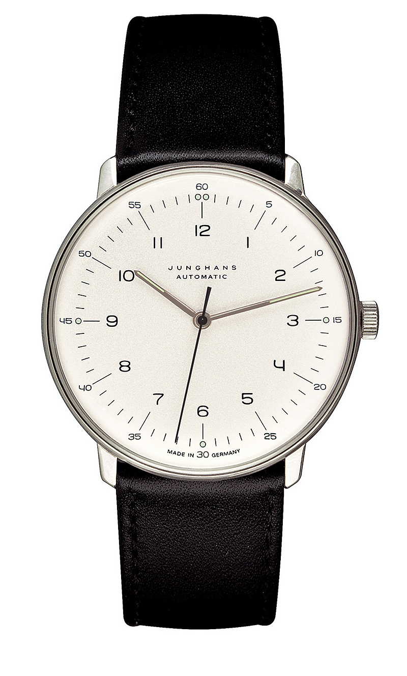 junghans 3500 mens watch max bill automatic analog nova68 modern design. Black Bedroom Furniture Sets. Home Design Ideas