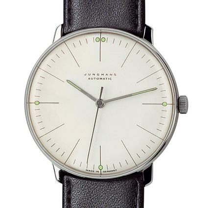 Junghans Watches: Max Bill Automatic Men's Watch with Lines Model 3501