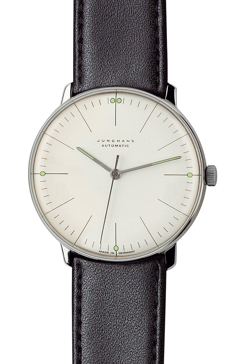 junghans watches max bill automatic watch with lines. Black Bedroom Furniture Sets. Home Design Ideas