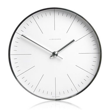 Max Bill Modern Office Wall Clock With Lines