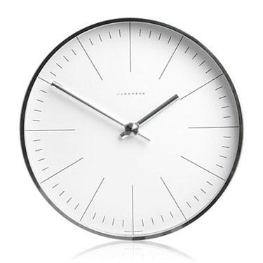 max bill modern office wall clock with lines max bill clocks