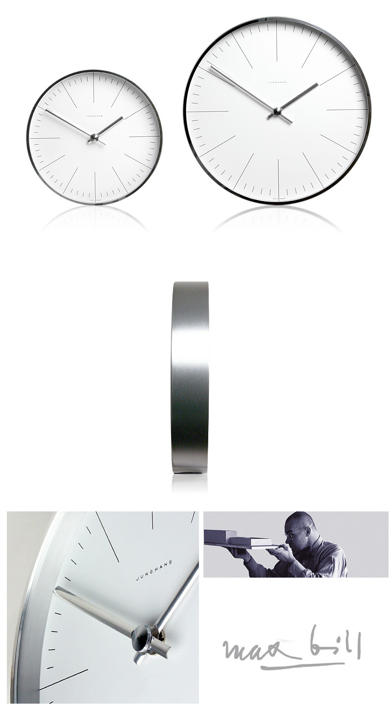 Max bill modern office wall clock with lines max bill clocks max bill clocks click to view additional images amipublicfo Images