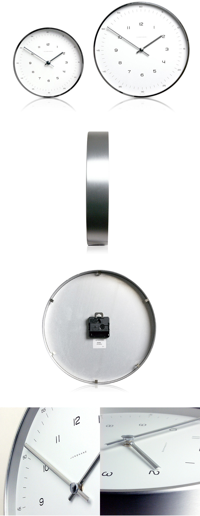 Max bill modern office wall clock with numbers max bill clocks max bill clocks click to view additional images amipublicfo Images