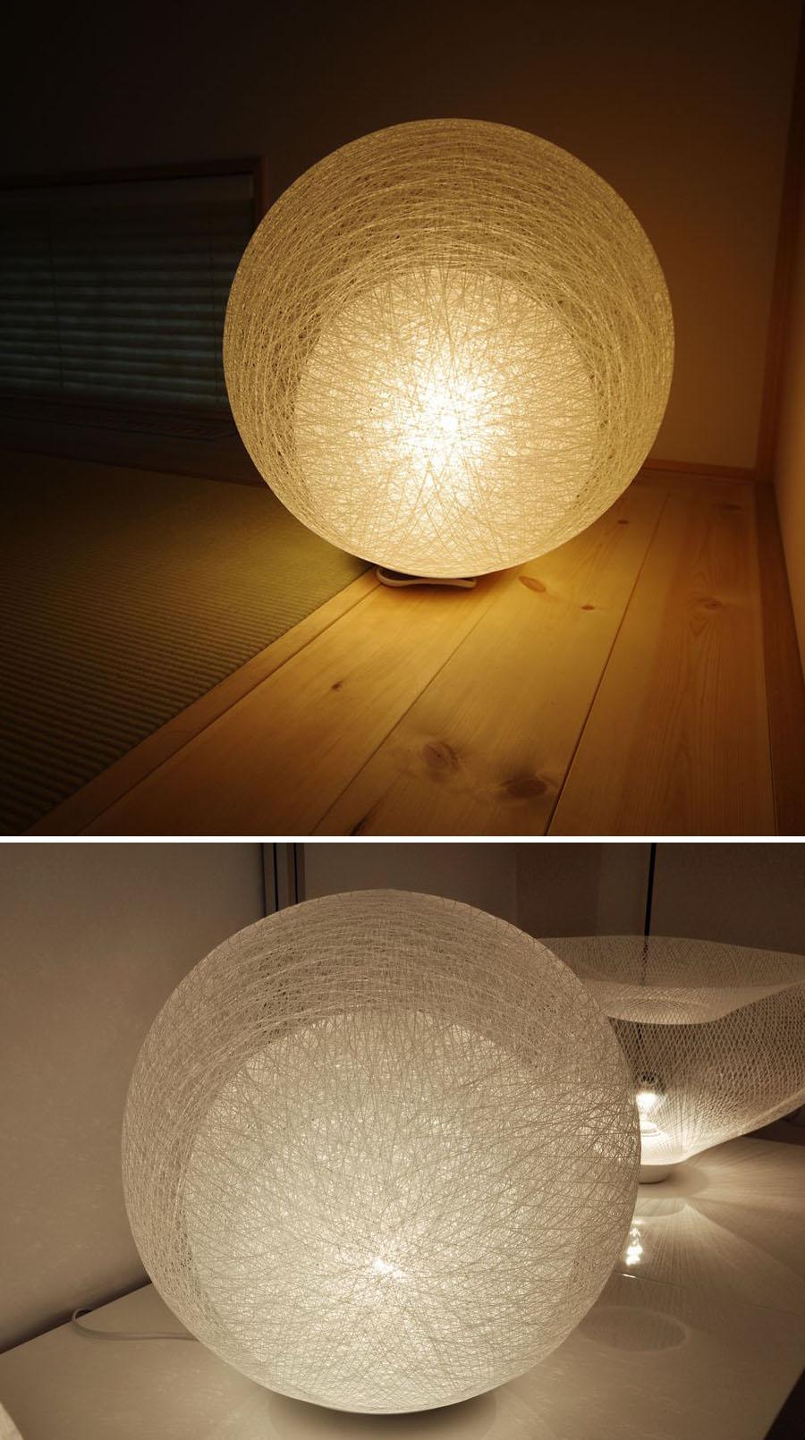 Yamagiwa Mayuhana Tri Globe Table Lamp Click To View Additional Images