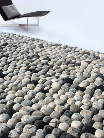 Ksenia Movafagh: River Bed Pebble Modern Rug: nova68 modern contemporary furniture design and lighting