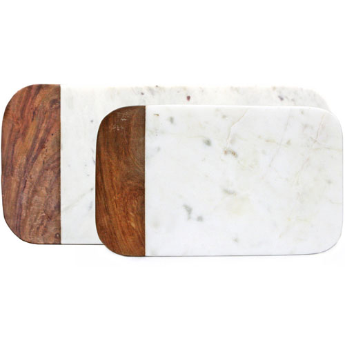 PESTO wood and marble pastry serving and cutting board NOVA68